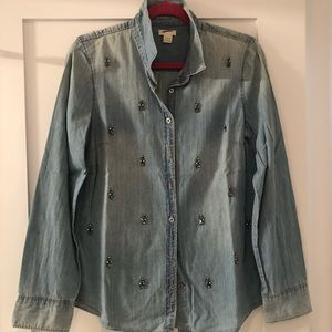 Jcrew Collection Chambray Shirt